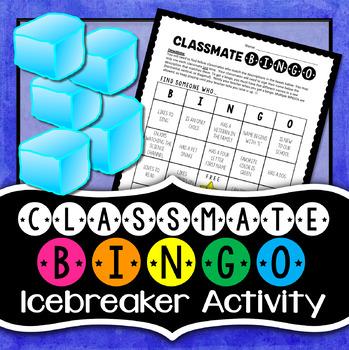 Classmate Bingo - Icebreaker Activity {EDITABLE}