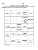 Classmate Bingo - Los Pasatiempos/Favorite Pastimes