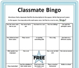 Classmate Bingo with Lesson Plan and Extension Activity