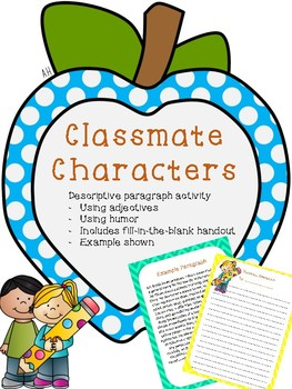 Classmate Characters - Descriptive Paragraph Printable