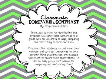 Classmate Compare and Contrast