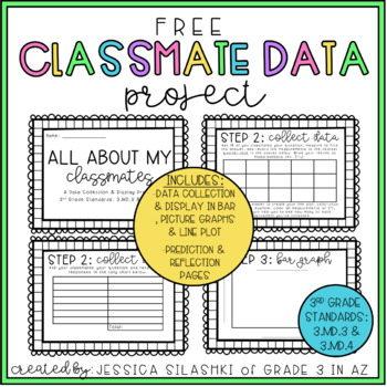 FREEBIE: Classmate Data Project (3rd Grade Data Collection & Display)