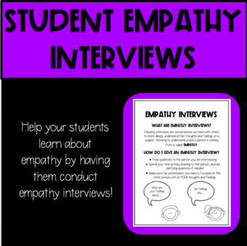 Classmate Empathy Interview Sheets