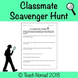 Classmate Scavenger Hunt - Community Building Activity