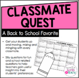 Classmate Quest - A Back to School & End of Year Activity