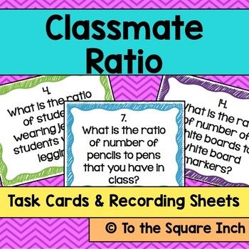 Classmate Ratios Task Cards