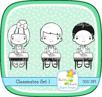 Classmates Clipart Set 1