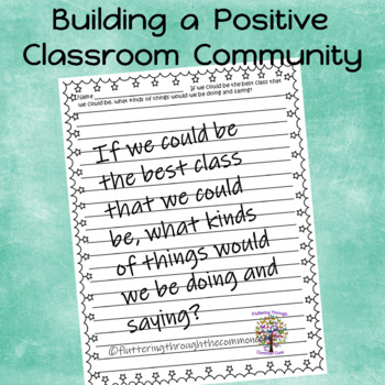 Classmates:  What kinds of things do we do and say? (Writing Prompts)