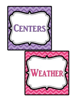 Classoom Helpers Labels Chevron