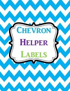 Classoom Helpers Labels Chevron