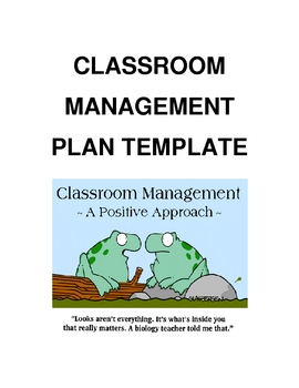 Classoom Management Plan Template