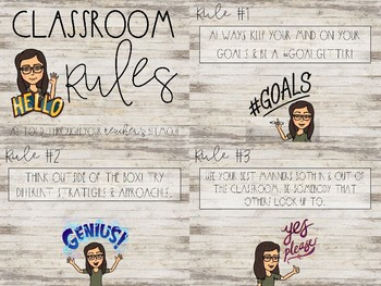 Classrom Rules using Bitmojis