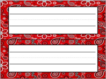 Classroom Decor Freebie Sampler: Bandana Theme