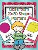 Classroom 2D and 3D Shape Posters