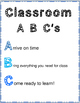 Classroom ABC's Poster