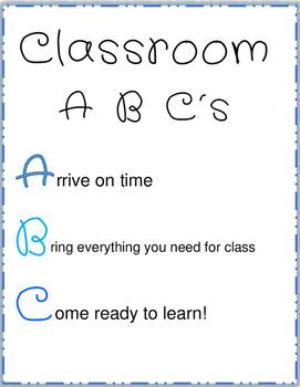 Classroom ABC's Poster