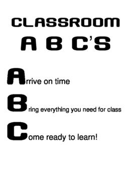 Classroom ABC's poster MINI