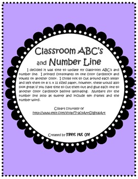Classroom ABCs and Number Line