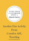 Classroom ASL Board Game - Large Board Game