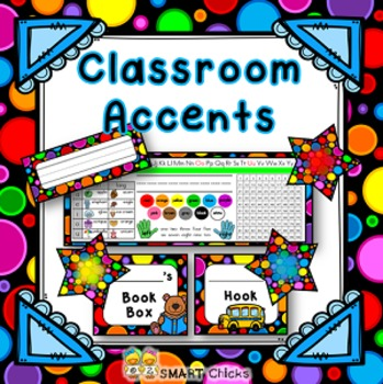 Classroom Accents - Bright Dots on Black