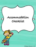 Classroom Accommodations Checklist
