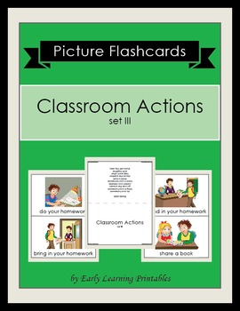 Classroom Actions (set III) Picture Flashcards