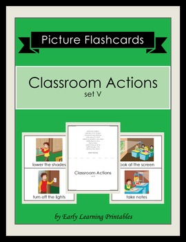 Classroom Actions (set V) Picture Flashcards
