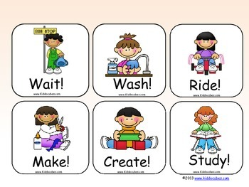 Classroom Activities and Commands Learning Cube Inserts