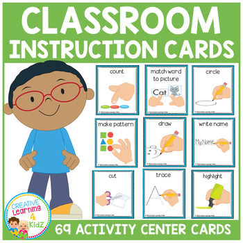Classroom Activity Center Instruction Cards