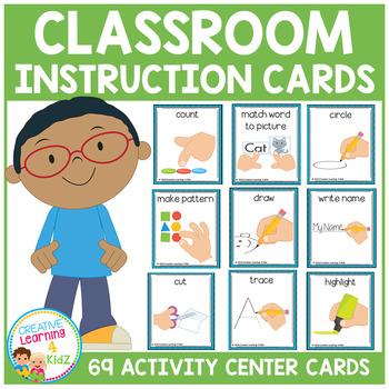Classroom Activity Center Instruction Cards