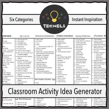 Classroom Activity Idea Generator