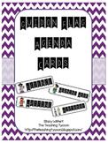 Classroom Agenda Cards- Guidon Flag Font
