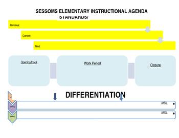 Classroom Agenda for Instruction