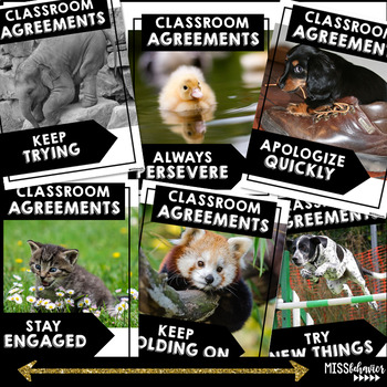 Classroom Agreements | Animal Posters | Classroom Expectation Posters