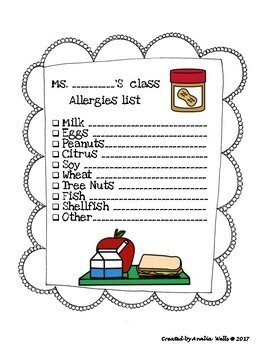 Classroom Allergy Forms (English & Spanish)