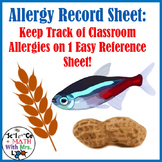 Classroom Allergy Record Form: Keep Track of Important Health Info!