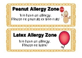 Classroom Allergy Signs | Peanut Allergy, Latex Allergy