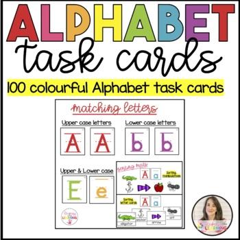 Classroom Alphabet- Task cards