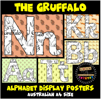 Alphabet Classroom Posters (Aa to Zz) The Gruffalo - A4, 26 pages