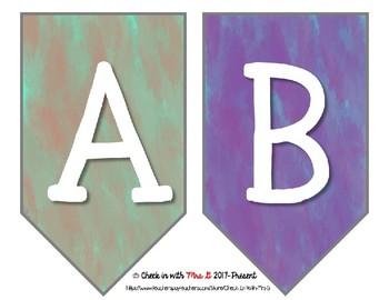 Classroom Alphabet Banner