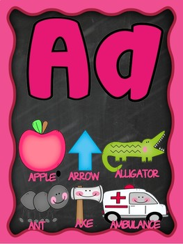 Classroom Alphabet (Beginning Sounds) Anchor Chart Poster Printables