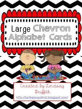 Classroom Alphabet {Black Chevron & Bright Colors}