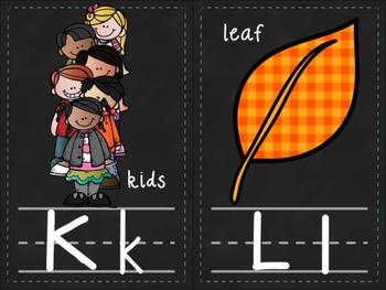 Classroom Alphabet Cards