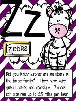 Classroom Alphabet Cards - Creature Features