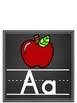 Classroom Alphabet (Chalkboard Background Edition)