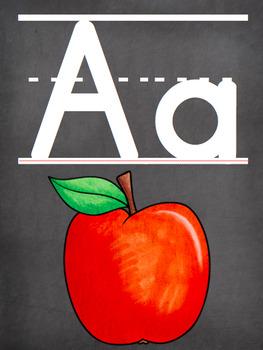Classroom Alphabet {Chalkboard Pattern}-EDITABLE
