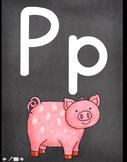 Classroom Alphabet {Chalkboard Pattern- Printed Text}