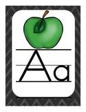 Classroom Alphabet Chart--Chalkboard