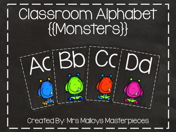 Classroom Alphabet {{Monsters}}