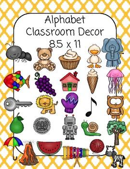 Classroom Alphabet Decor